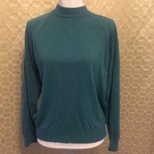 Designers Originals Soft Mock Neck Sweater Teal XL